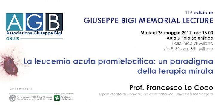 Giuseppe Bigi Memorial Lecture 2017